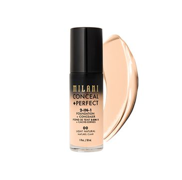 Milani – Conceal + Perfect 2-in-1 Foundation + Concealer kryjący podkład do twarzy 00 Light Natural (30 ml)