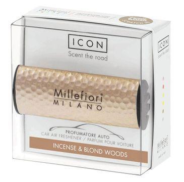 Millefiori Icon Car Air Freshener zapach samochodowy Hammered Metal Incense & Blond Woods 1szt