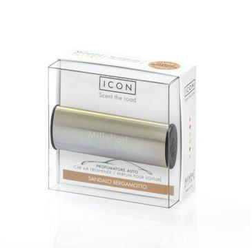Millefiori Icon Car Air Freshener zapach samochodowy Metallo Shiny Bronze Sandalo Bergamotto 1szt