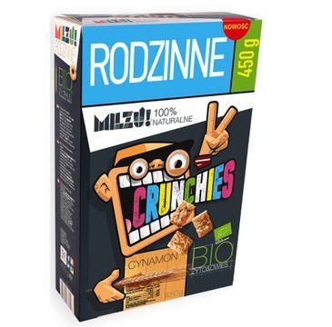 Milzu! Crunchies Bio Rye & Oat płatki żytnio-owsiane Cinnamon 450g