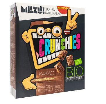 Milzu! Crunchies Bio Rye & Oat płatki żytnio-owsiane Cocoa 450g