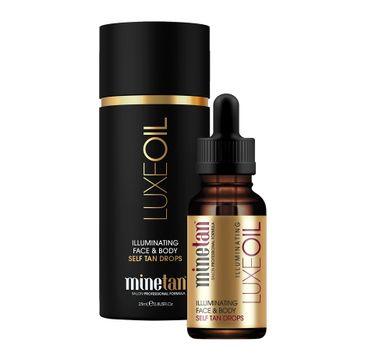 MineTan Luxe Oil Illuminating Face & Body Self Tan Drops rozÅ›wietlajÄ…ce krople samoopalajÄ…ce 25ml