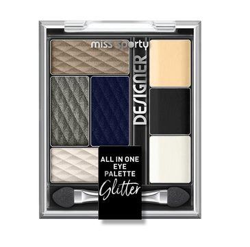 Miss Sporty Designer All In One Eye Palette paleta cieni  do powiek 400 Glitter 9.5g