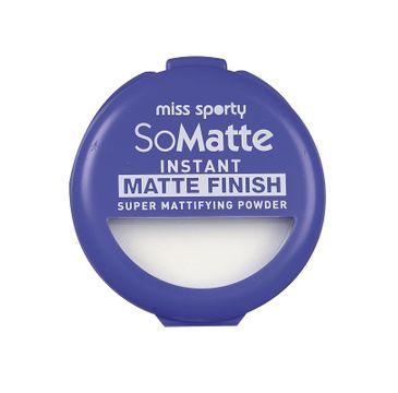 Miss Sporty So Matte Instant Matte Finish Super Mattifying Powder puder antybakteryjny w kamieniu 001 Universal 9,4g