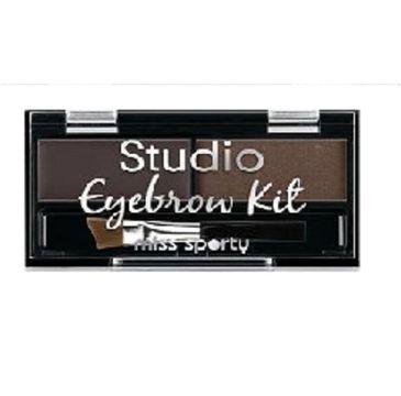 Miss Sporty Studio Eyebrow Kit paleta do makijażu brwi 001 Medium Brown 1,1g