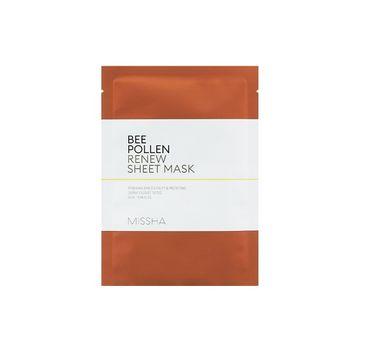 Missha Bee Pollen Renew Sheet Mask nawilżająca maseczka w płachcie na bazie ekstraktu z pyłku pszczelego 25ml