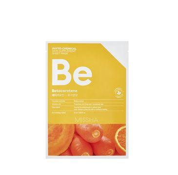 Missha Phyto - Chemical Skin Supplement Sheet Mask odżywcza maska w płachcie na twarz Betacarotene 25ml