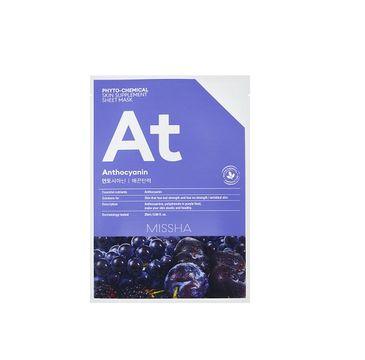 Missha Phyto - Chemical Skin Supplement Sheet Mask ujędrniająca maska w płachcie na twarz Anthocyanin 25ml