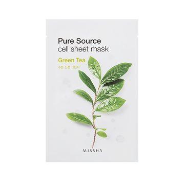 Missha Pure Source Cell Sheet Mask bawełniana maska na twarz Green Tea 21g