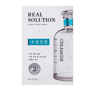 Missha Real Solution Tencel Sheet Mask Soothing Face Mask kojąca maseczka do twarzy w płachcie 25g