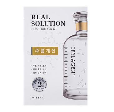 Missha Real Solution Tencel Sheet Mask Wrinkle Caring Face Mask przeciwzmarszczkowa maseczka do twarzy w płachcie 25g