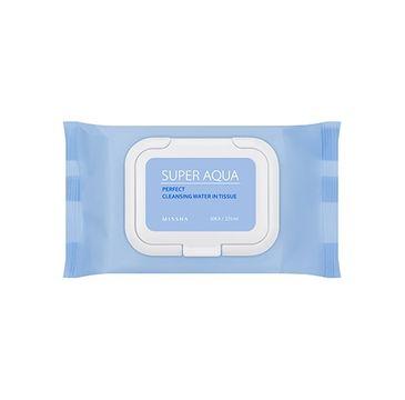 Missha Super Aqua Perfect Cleansing Water In Tissue oczyszczające chusteczki do twarzy o działaniu nawilżającym 30szt.