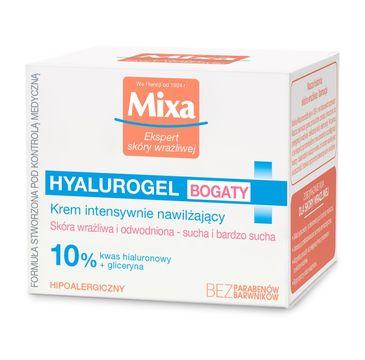 Mixa Hyalurogel bogaty krem do suchej skóry intensywnie nawilżający 50 ml