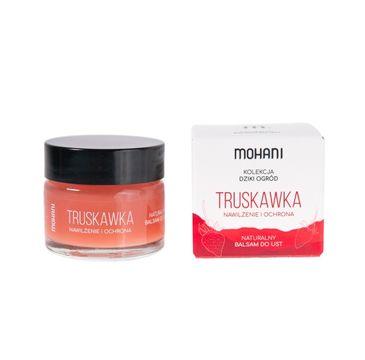 Mohani Nawilżająco-ochronny balsam do ust Truskawka (15 ml)