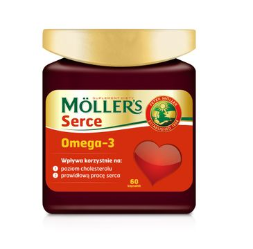 Möller's Serce Omega-3 suplement diety (60 kapsułek)