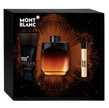 Mont Blanc Legend Night - zestaw prezentowy - woda perfumowana spray 100 ml + balsam po goleniu 100 ml + miniatura wody perfumowanej 7.5 ml