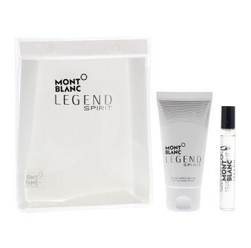 Mont Blanc Legend Spirit Pour Homme zestaw miniatura wody toaletowej spray 7.5ml + balsam po goleniu 50ml + kosmetyczka (1 szt.)