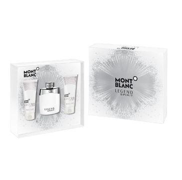 Mont Blanc Legend Spirit zestaw woda toaletowa spray 100ml + balsam po goleniu 100ml + żel pod prysznic 100ml