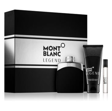 Mont Blanc Legend zestaw woda toaletowa spray 100 ml + miniatura wody toaletowej spray 7,5 ml + balsam po goleniu 100 ml