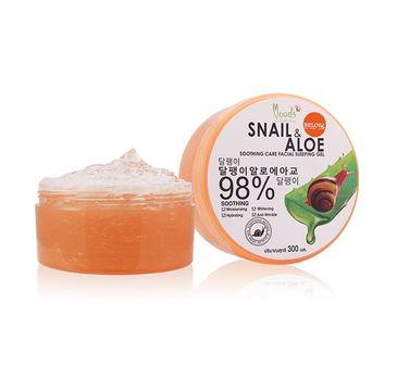 Moods Snail & Aloe 98% nawilżający żel do twarzy i ciała na noc (300 g)