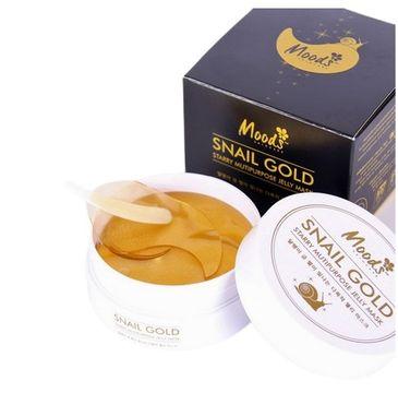 Moods Snail Gold Starry Multipurpose Jelly Mask żelowe płatki pod oczy złoto ze śluzem ślimaka (60 szt.)