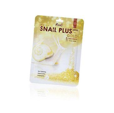 Moods Snail Plus Gold Facial Mask przeciwzmarszczkowa maska do twarzy w płachcie 38g