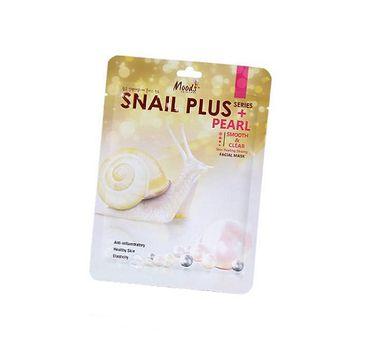 Moods Snail Plus Pearl Facial Mask rozświetlająca maska do twarzy w płachcie Smooth & Clear 38g