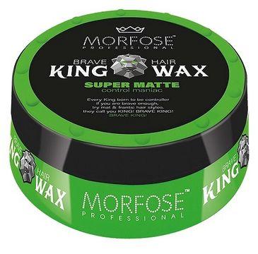 Morfose Brave Hair King Wax wosk do stylizacji włosów Super Matte (175 ml)