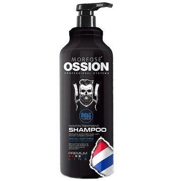 Morfose Ossion Premium Barber Keratin Treatment Shampoo szampon do wszystkich rodzajów włosów bez soli (1000 ml)
