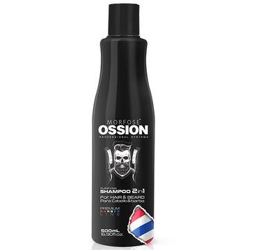 Morfose Ossion Premium Barber Purifying Shampoo 2in1 For Hair and Beard szampon 2w1 do włosów i brody (500 ml)