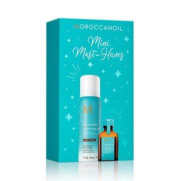 Moroccanoil Mini Must-Have zestaw Dry Shampoo Dark Tones suchy szampon do ciemnych włosów 65ml + Treatment kuracja do włosów 15ml (1 szt.)