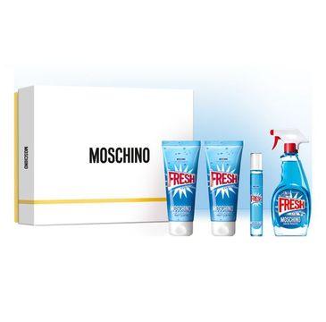 Moschino Fresh Couture zestaw woda toaletowa spray 100ml + balsam do ciała 100ml + żel pod prysznic 100ml + miniatura wody toaletowej roll-on 10ml