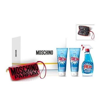 Moschino Fresh Couture zestaw woda toaletowa spray 100ml + balsam do ciała 100ml + żel pod prysznic 100ml + zestaw do manicure