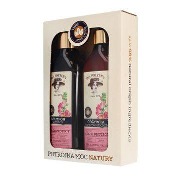 Mrs Potters Potrójna Moc Natury zestaw prezentowy Triple Flower szampon + odżywka 390 ml x 2