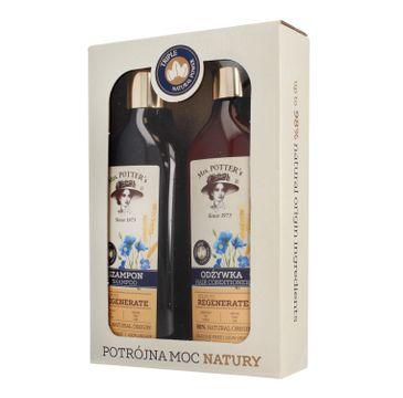 Mrs Potters Potrójna Moc Natury zestaw prezentowy Triple Grain szampon + odżywka 390 ml x 2