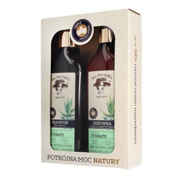 Mrs Potters Potrójna Moc Natury zestaw prezentowy Triple Herb szampon + odżywka 390 ml x 2
