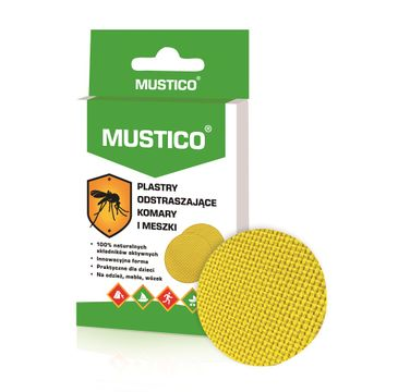 Mustico Plastry odstraszające komary i meszki (12 szt.)