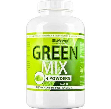 Myvita Green Mix naturalny detox i energia suplement diety 150g