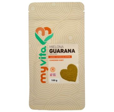 Myvita Guarana mielona suplement diety w proszku 100g