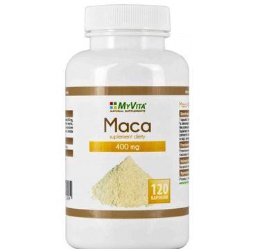 Myvita Maca 400mg suplement diety 120 kapsułek