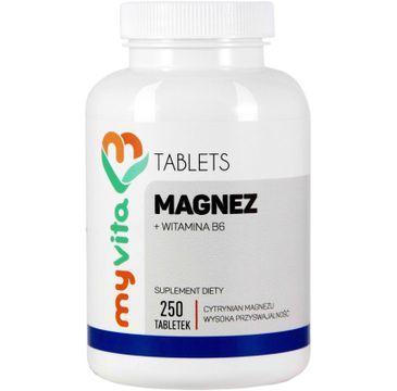 Myvita Magnez + B6 suplement diety 250 tabletek