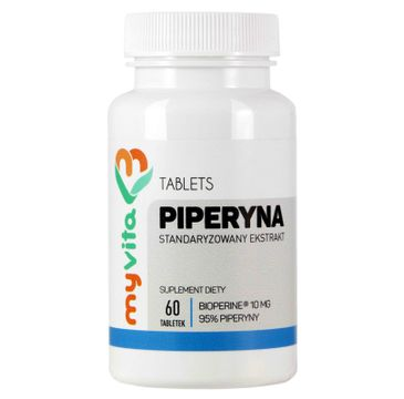 Myvita Piperyna 10mg suplement diety 60 tabletek