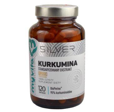 Myvita Silver Kurkumina 100% czysty suplement diety 120 kapsułek