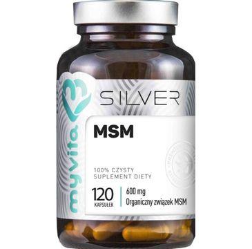 Myvita Silver MSM 600 mg 100% czysty suplement diety 120 kapsułek