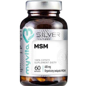 Myvita Silver MSM 600 mg 100% czysty suplement diety 60 kapsułek
