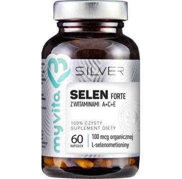 Myvita Silver Selen Forte 100% czysty suplement diety 60 kapsułek