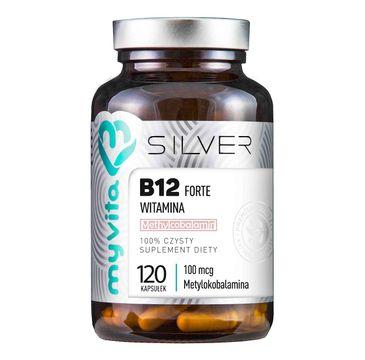 Myvita Silver Witamina B12 Forte 100µg 100% czysty suplement diety 120 kapsułek