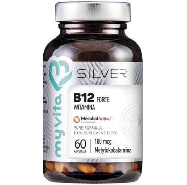 Myvita Silver Witamina B12 Forte 100µg 100% czysty suplement diety 60 kapsułek