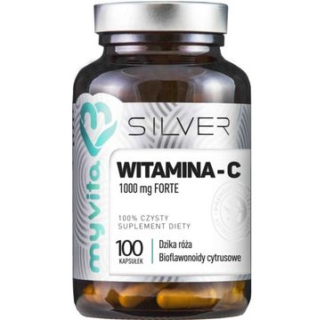 Myvita Silver Witamina C Forte 1000mg 100% czysty suplement diety 100 kapsułek