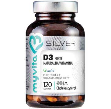 Myvita Silver Witamina D3 Forte 4000IU 100% czysty suplement diety 120 kapsułek